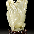 nephrite carving of a <b>Buddha</b>'<b>s</b> <b>hand</b> citron. 18th/19th century