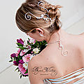Bijoux cheveux mariage : <b>accessoire</b> de <b>coiffure</b> marie et bijou de tte Marquise
