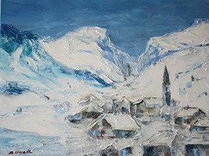 village_montagne_sous_neige_peinture
