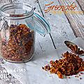 Granola aux abricots et raisins secs