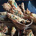 Frites de <b>courgette</b> sans huile