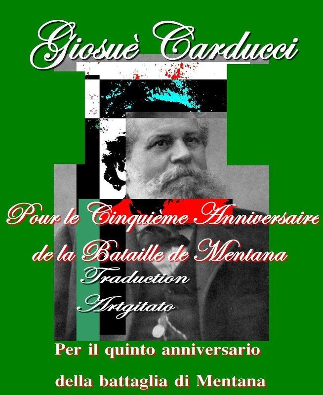 Per il quinto anniversario della battaglia di Mentana Giosuè Carducci Traduction Artgitato Poème