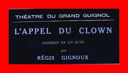 L'appel du Clown 1923