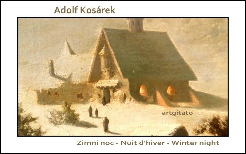 Adolf Kosárek Zimni noc Nuit d'hiver Winter night 1857 Artgitato 4
