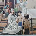 Collection ... <b>Affiche</b> scolaire PATISSERIE / VISITE MEDICALE