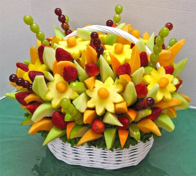 Pr sentation originale de fruits ma p tissi re bien aim e for Decoration salade de fruits