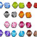 Lot de 170 perles <b>bi</b>-cônes 8mm