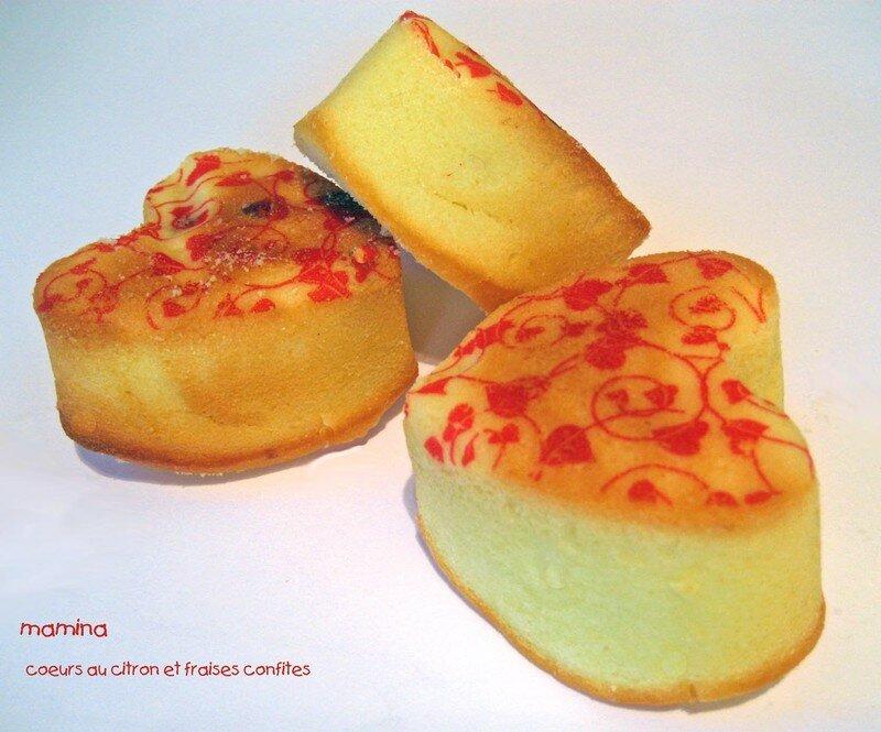 coeurs citrons fraises confites