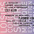 Lily Allen - Dimanche 4 Mars 2007 - <b>Bataclan</b> (Paris)