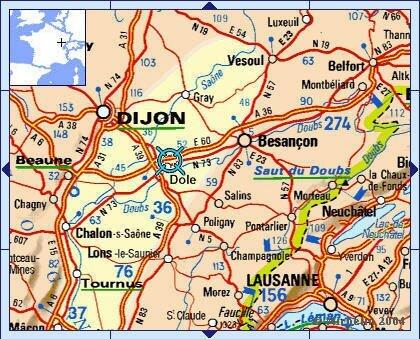 Dole Dijon Besançon