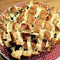 Blooming bread ail <b>persil</b> mozzarella