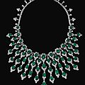 Impressive emerald and diamond necklace, <b>Bulgari</b>, circa 1970