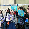 <b>Collectif</b> Stop Tafta interompt le séminaire du Medef