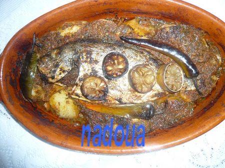 recettes  Tajine de poisson à la Chermoula.