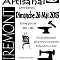 MARCHE <b>ARTISANAL</b> LE 26 MAI A MIREMONT, entre gratuite.