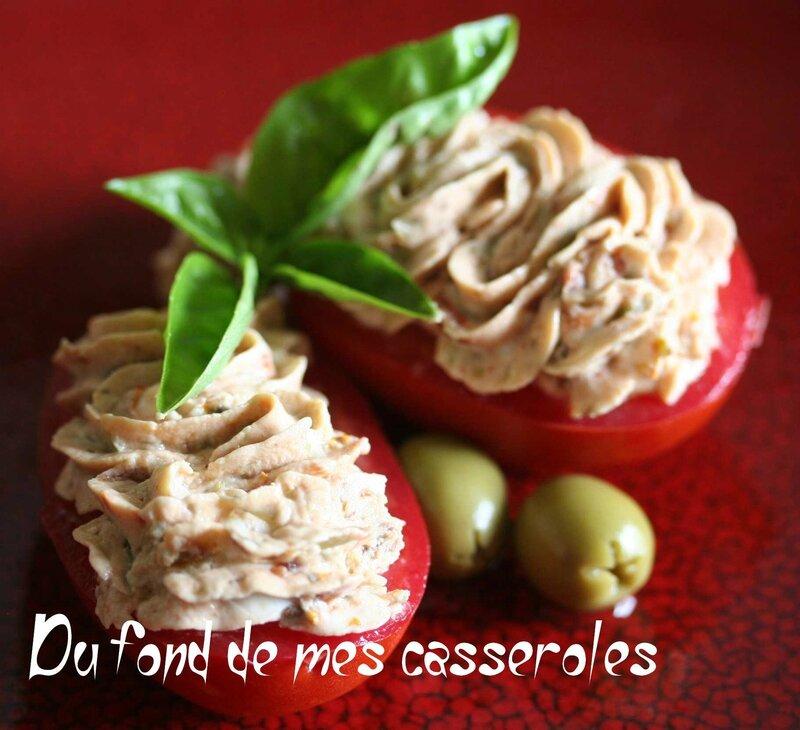 Cake Saumon Chevre Tomates Sechees