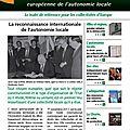 Le Charte européenne de l'autonomie locale en pleine actualité !