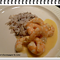 Crevettes <b>sauce</b> orange WW
