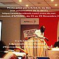 L'A.V.E.U. du Net était présente à ABIDJAN, à la Plcc / DITT, et au 19ème séminaire AFRINIC du 23 au <b>30</b> novembre 2013