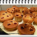 <b>Financier</b> aux framboises