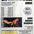 Stages 2014-2015 : 1er Rendez-vous « Armes » - 13 octobre 2014