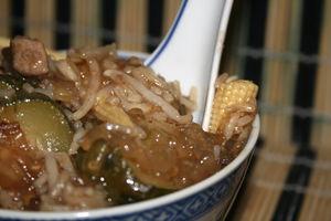 recettes plats  Lamelles de porc au wok