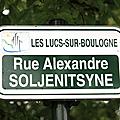 25 septembre 1993, Soljenitsyne aux <b>Lucs</b>-sur-Boulogne