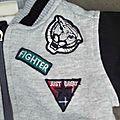 Gilet bomber gris et noir pour petit
