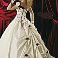 Destockage !!! Robe de mariée neuve champagne bordeaux