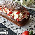 Cake coeur de <b>myrtilles</b> Chantilly