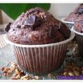 Muffins chocolat nougatine façon cookies