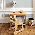 Ensemble bureau et <b>chaise</b> <b>maternelle</b> années 60