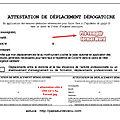 Astuces utiles <b>Attestation</b> de Déplacement <b>Dérogatoire</b> papier (mise à jour 28nov 2020)