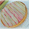 Tarte à la rhubarbe de ph. conticini