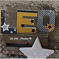 Lettres prénom décorées thème étoile