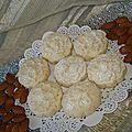 Ghribia bel louz ( motecao aux amandes)