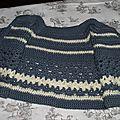 Gilet 1-3 mois Crochet laine Idéal Meije Persan 3