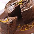 Gâteau chocolat aux zestes d'orange