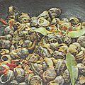 Fricacée d'escargots petits-gris