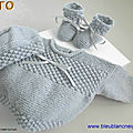 Tuto, explications, layette tricot laine bb, tricot bebe