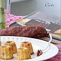 Mini canneles au chorizo doux & aux 4 fromages - mini canneles al chorizo suave & a los 4 quesos