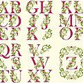 Alphabet fleuri - 48 points