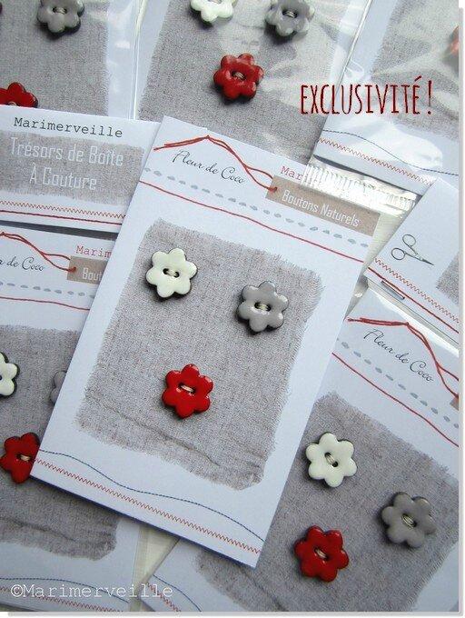 Marimerveille cartes boutons fleurs de coco