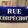 Ancienne Plaque de <b>Rue</b> Émaillée