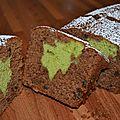 Cake surprise de noël au chocolat & pistache