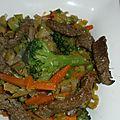 Poêlée de bœuf aux légumes croquants