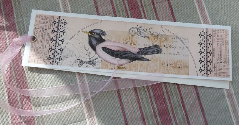 Marque page Oiseau Yvette