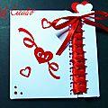 Faire-part mariage pochette coeurs avec lacet, lacage, 2 versions rouge et blanc