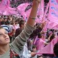 Dans le stade de France