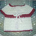 Gilet blanc bébé 1 - 3 mois